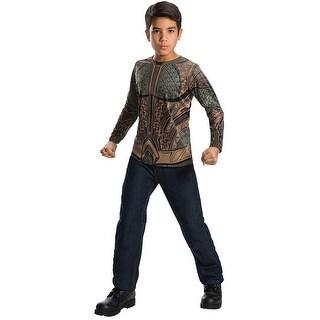 Justice League Movie Aquaman Costume Top Child