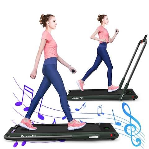 Gymax 2 25Hp Under Desk Electric Pad Treadmill Running Machine W/ App