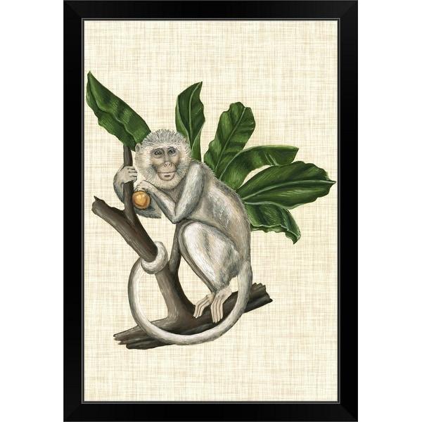 """""""Canopy Monkey II"""" Black Framed Print"""
