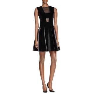 DKNY Womens Cocktail Dress Velvet Georgette