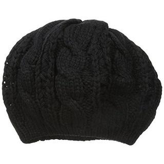 Gabriella Womens Beret Cable Knit Fashion - o/s
