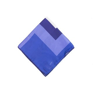 Tom Ford Mens Purple Tone Zig Zag Silk Pocket Square