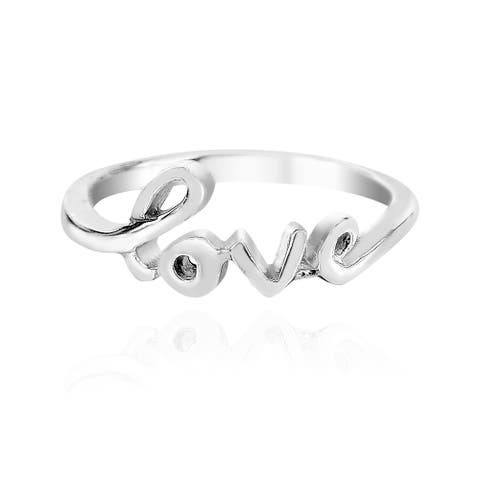 Handmade Charms of Love Sterling Silver Ring (Thailand)