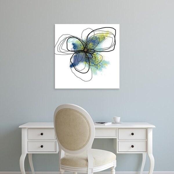 Easy Art Prints Jan Weiss's 'Azure Petals II' Premium Canvas Art