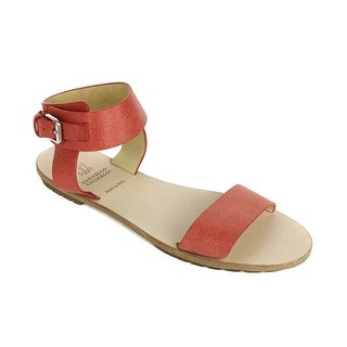 Brunello Cucinelli Bright Orange Leather Flat Sandals