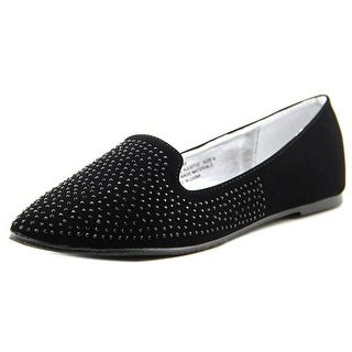 Kensie Girl Embellished Loafer Youth Round Toe Synthetic Black Flats