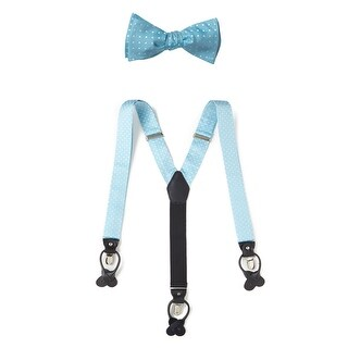 Jonathan Frederic Madison Silk Bow Tie and Suspenders Set