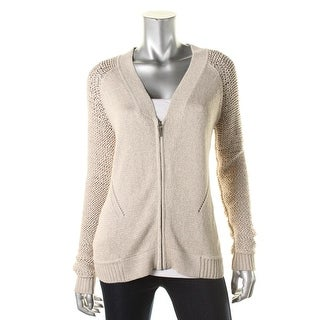 Nanette Lepore Womens Explorer Macrame Full Zip Cardigan Sweater - S