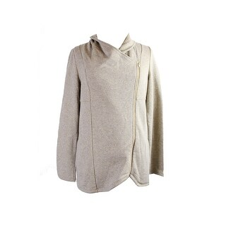 Inc International Concepts Gold Metallic Asymmetrical Zipper Jacket M