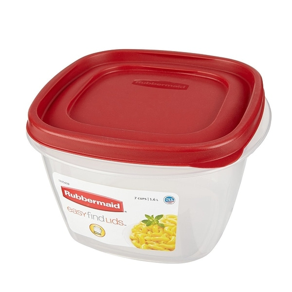 Rubbermaid Take Alongs Food Storage, 7 Cup (Pack 6) - Red