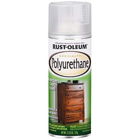 Rust-Oleum 7871830 Specialty Polyurethane Spray, 11.25 Oz, Semi-Gloss