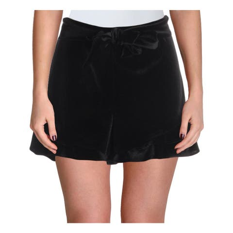 Aqua Womens Dress Shorts Velvet Flounce