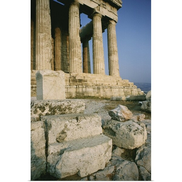"""Ancient ruins in Greece"" Poster Print"