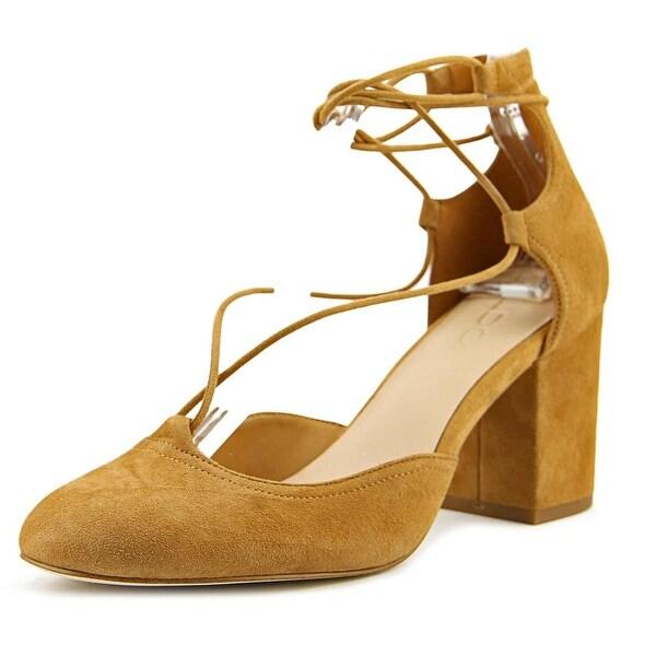 Aldo Franceska Women Round Toe Synthetic Tan Mary Janes
