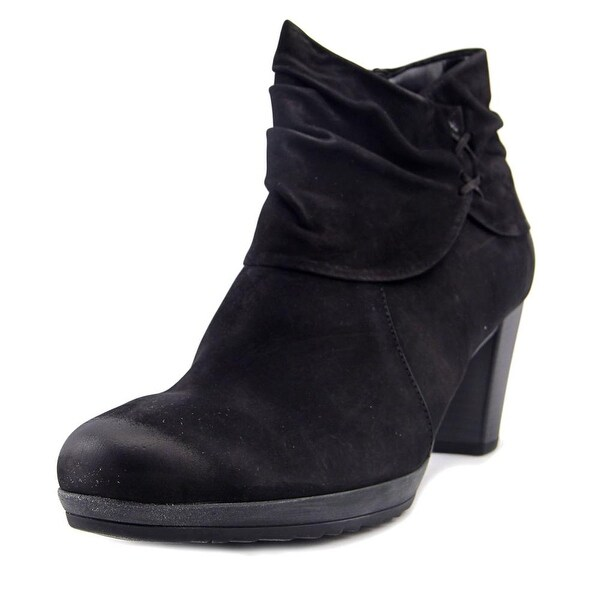 Gabor 55.793 Women Round Toe Leather Black Ankle Boot