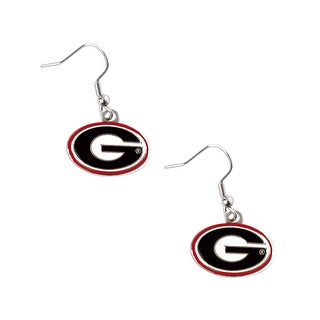Georgia Bulldogs Dangle Logo Earring Set NCAA Charm Gift