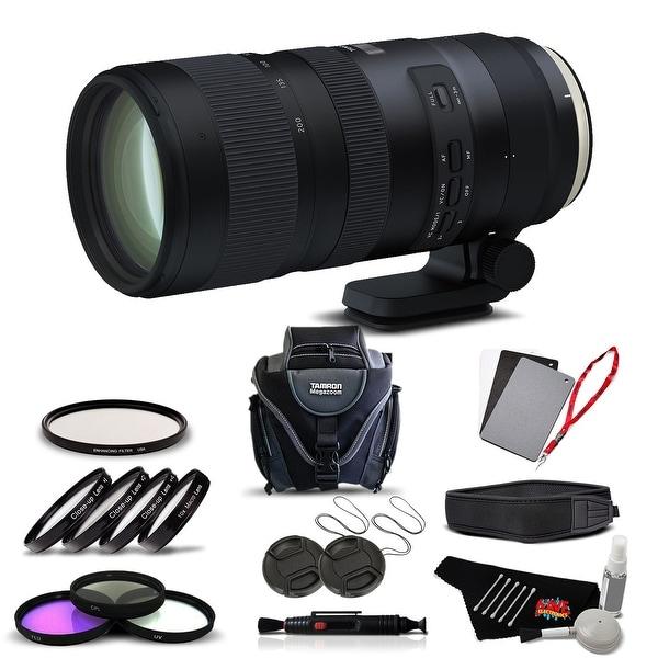 Tamron SP 70-200mm f/2.8 Di VC USD G2 Lens for Canon EF International Version (No Warranty) Advanced Kit - black