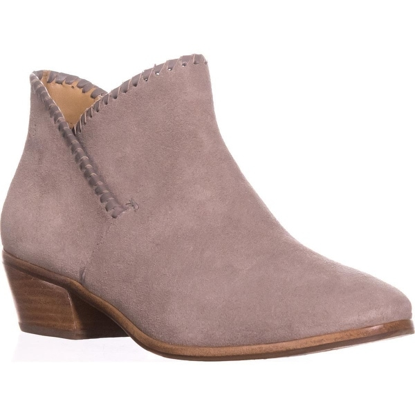 Jack Rogers Sadie Flat Ankle Boots, Light Grey