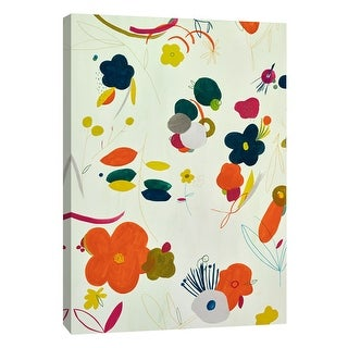 """PTM Images 9-108678  PTM Canvas Collection 10"""" x 8"""" - """"Colorful Spring III"""" Giclee Flowers and Leaves Art Print on Canvas"""