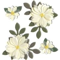 Vanilla Flowers - Jolee's Boutique Dimensional Stickers
