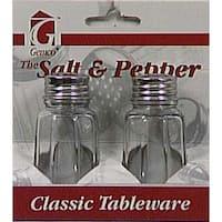 Lifetime 5078608 Salt & Pepper Set, 1 Oz, Clear Glass