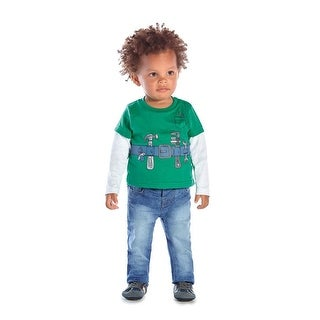 Baby Boy Long Sleeve Layered Graphic Bodysuit Infant Pulla Bulla 3-12 Months