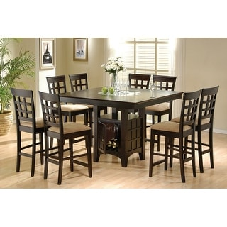 Link to Tolland Tan and Cappuccino 9-piece Counter Height Dining Set Similar Items in Dining Room & Bar Furniture