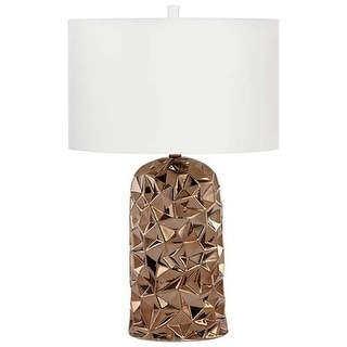 Cyan Design Igneous Table Lamp Igneous 1 Light Accent Table Lamp with Cream Shade - Bronze