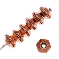 TierraCast Copper Plated Pewter Hexagon Rondelle Beads 5mm (10)