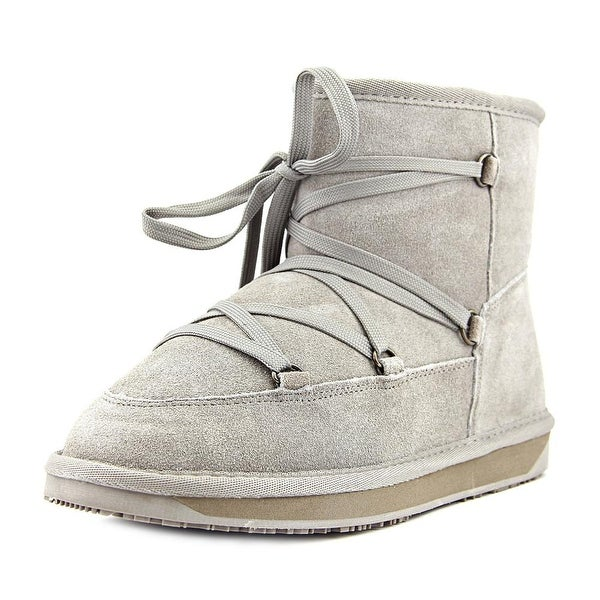 BooRoo Ainsley Women Round Toe Suede Gray Winter Boot