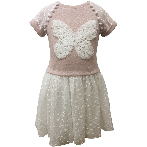 Shop Caeli Kids Little Girls Pink White French Terry Butterfly Embroidered  Dress - Free Shipping On Orders Over  45 - Overstock.com - 23089721 0e7fce34333d