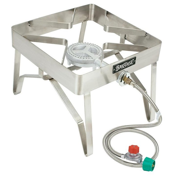 Bayou Classic® 16-in Stainless Outdoor Patio Stove. Opens flyout.
