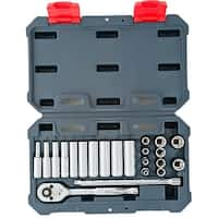 "Crescent CSWS3 1/4"" Drive Metric Socket Wrench Set, 22 Piece"