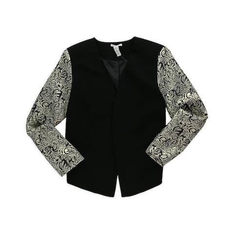 Bar Iii Womens Front Row Blazer Jacket