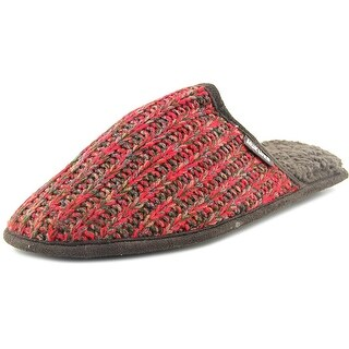 Muk Luks Gavin Urban Lumberjacks Men Round Toe Canvas Red Slipper