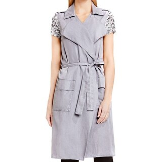 Two by Vince Camuto NEW Gray Women's Size Medium M Trench Jacket