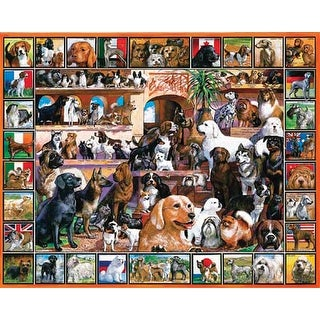 "Jigsaw Puzzle Lovable Pets 1000 Pieces 24""X30""-The World Of Dogs"