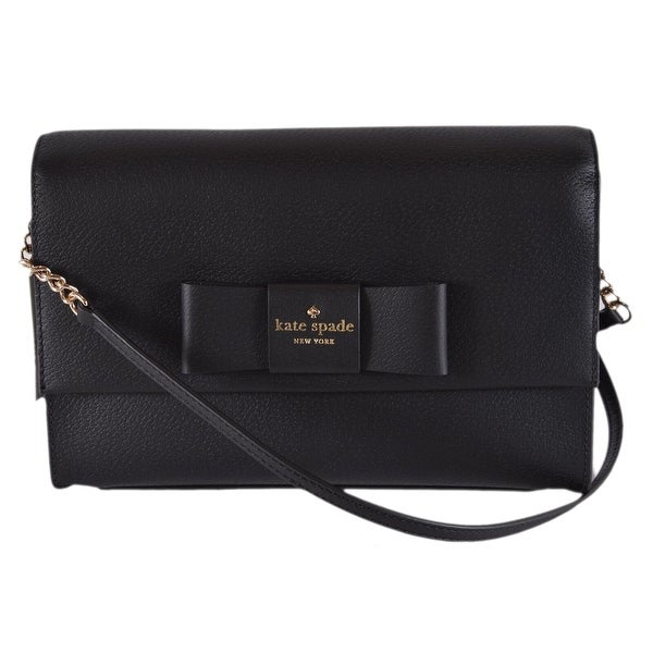 9b00466150e2 Shop Kate Spade Black Leather Robinson Street Zanni Crossbody Bag ...