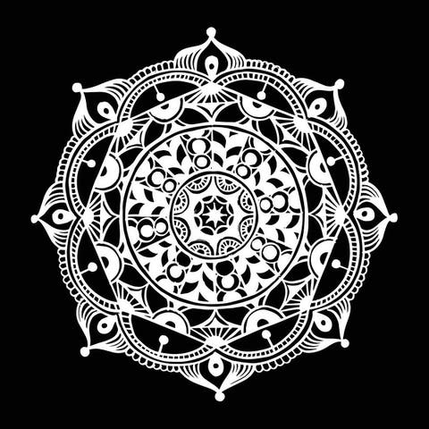 Mandala Wall Decals Om Sign Decal Yoga Sticker Vinyl Decals Wall Decor Murals Meditation Decor Mandala Sticker