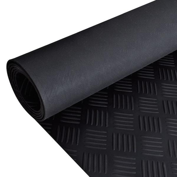 vidaXL Rubber Floor Mat Anti-Slip 7' x 3' Checker Plate