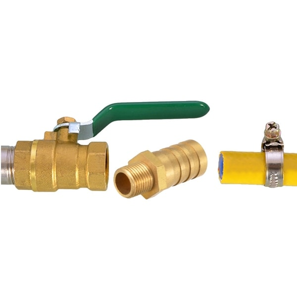 Brass Barb Hose Fitting Connector Adapter 5//8inch Barb x 1//2 NPT Male Pipe 2pcs