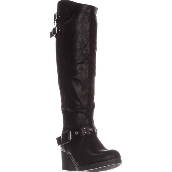 Carlos by Carlos Santana Cara Casual Riding Boots, Black
