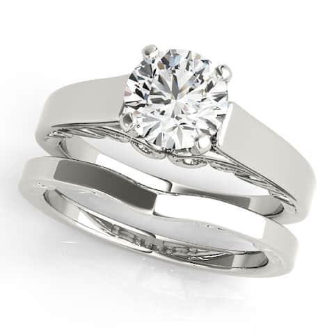 Ethical Sparkle 1/2ctw Round Lab Grown Diamond Bridal Set 14k Gold