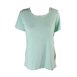 Jm Collection Mint Julip Jacquard T-Shirt L