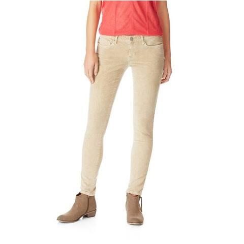 Aeropostale Womens Lola Corduroy Jeggings Skinny Fit Jeans, Beige, 000 Regular
