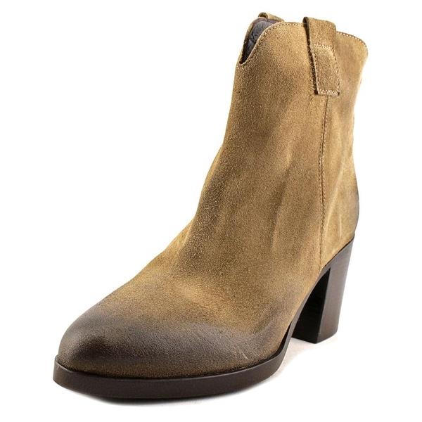 Vince Camuto Mimi Women Round Toe Suede Tan Ankle Boot