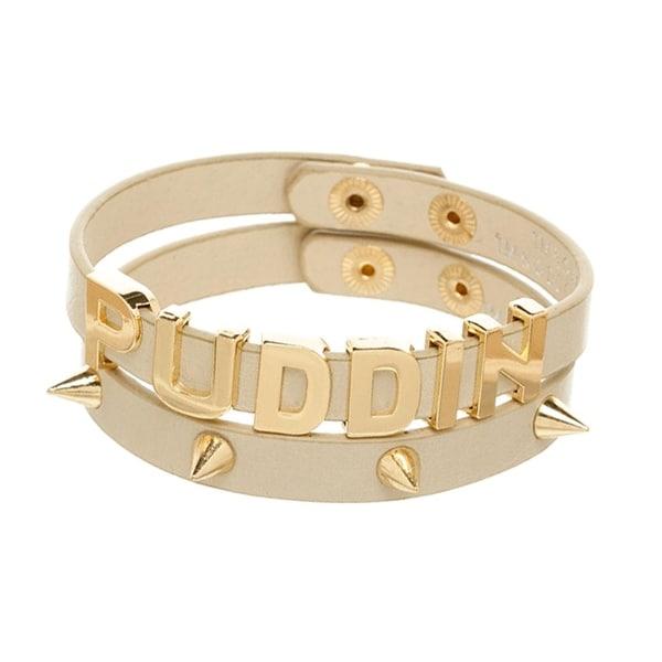 DC Comics Suicide Squad Harley Quinn PUDDIN Bracelet Set - Gold
