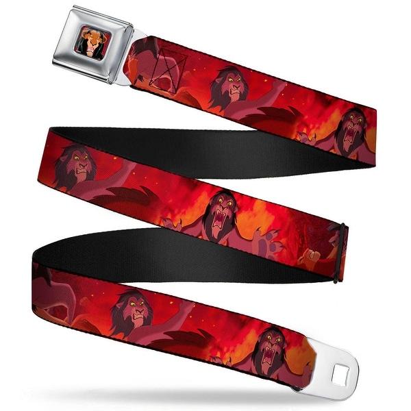 Scar Red Full Color Simba Scar Battle Scene Fiery Red Webbing Seatbelt Belt Seatbelt Belt