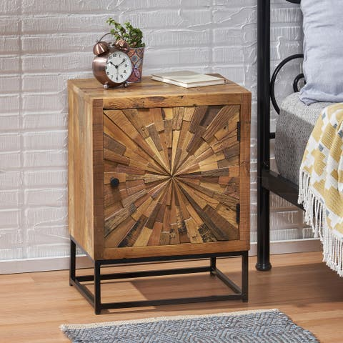 Orem Boho Wooden Night Stand by Christopher Knight Home