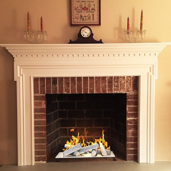 Ventless /& Vent Free Gas Inserts or Outdoor Fireplaces /& Fire Pits Electric 10 Pieces Ceramic Fiber Wood-like Gas Fireplace Logs For All Types of Indoor Realistic Clean Burning Accessories